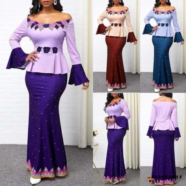 Robe Africaine de style Ankara imprimé Dashiki