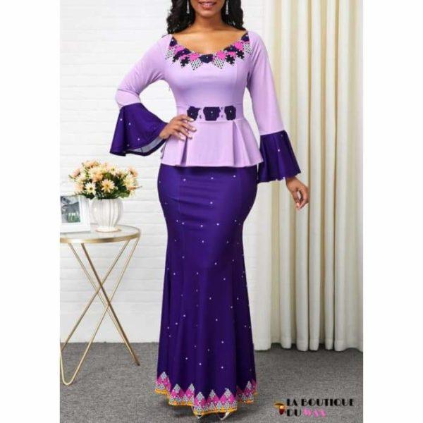 Robe Africaine Divine - PURPLE / S - Vêtements style