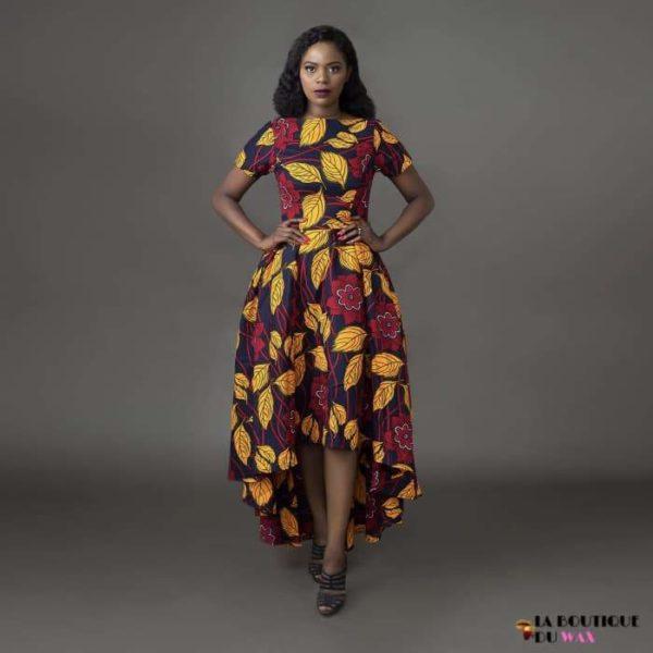 Robe Africaine imprimé Batik - color1 / S - Vêtements style