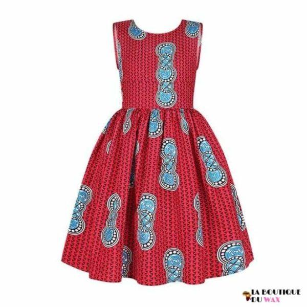 Robe Africaine pour jeune fille imprimé Kente - 1 /