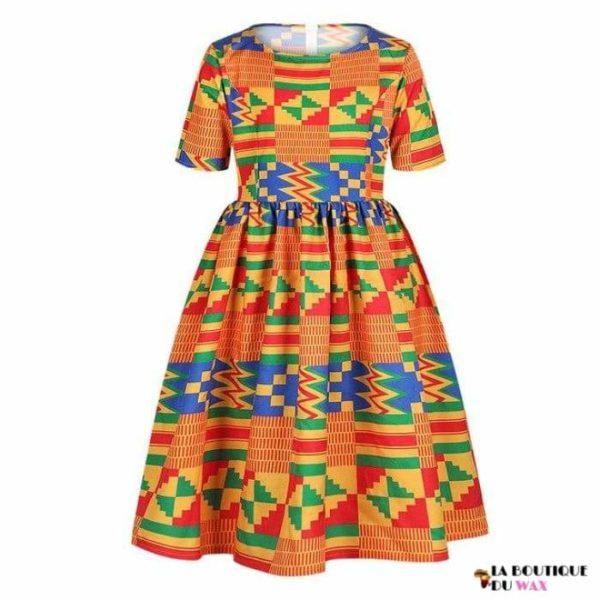 Robe Africaine pour jeune fille imprimé Kente - 11 /