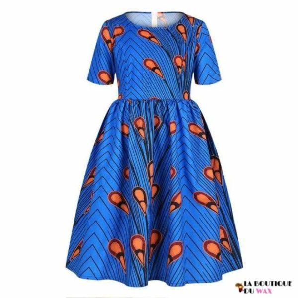 Robe Africaine pour jeune fille imprimé Kente - 12 /