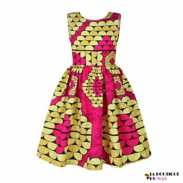 Robe Africaine pour jeune fille imprimé Kente - 2 /