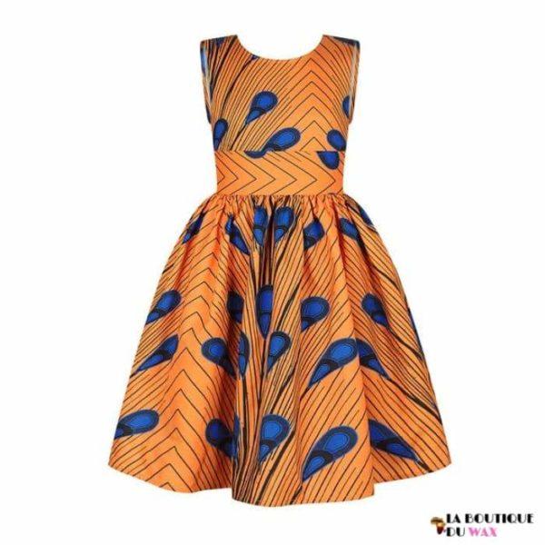 Robe Africaine pour jeune fille imprimé Kente - 5 /