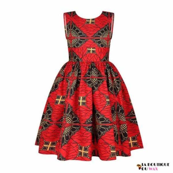 Robe Africaine pour jeune fille imprimé Kente - 6 /