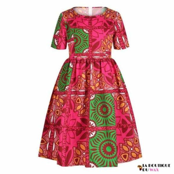 Robe Africaine pour jeune fille imprimé Kente - 7 /