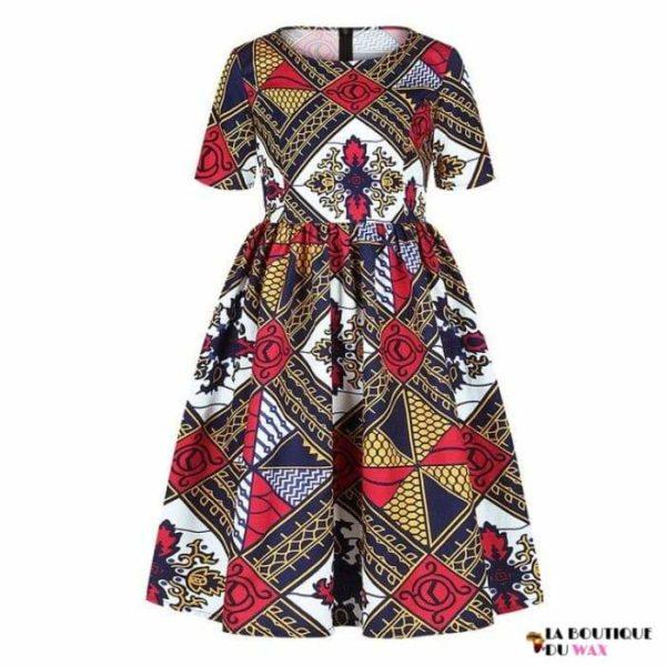 Robe Africaine pour jeune fille imprimé Kente - 8 /