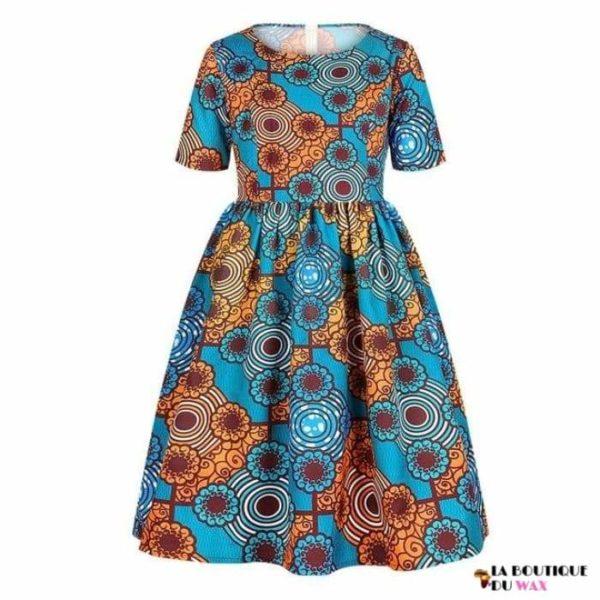 Robe Africaine pour jeune fille imprimé Kente - 9 /