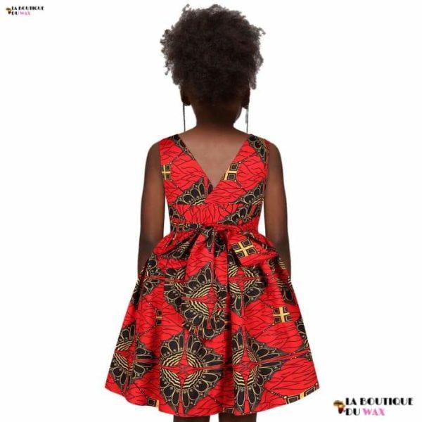 Robe Africaine pour jeune fille imprimé Kente