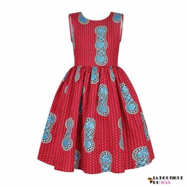 Robe Africaine pour jeune fille imprimé Kente - Vêtements