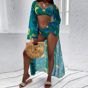 Maillot de Bain Africain 3 Pièces Modèle Shorty