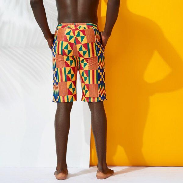 Short de Bain Africain pour homme imprimé Kente