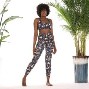 Leggings Imprimé Africain Fitness