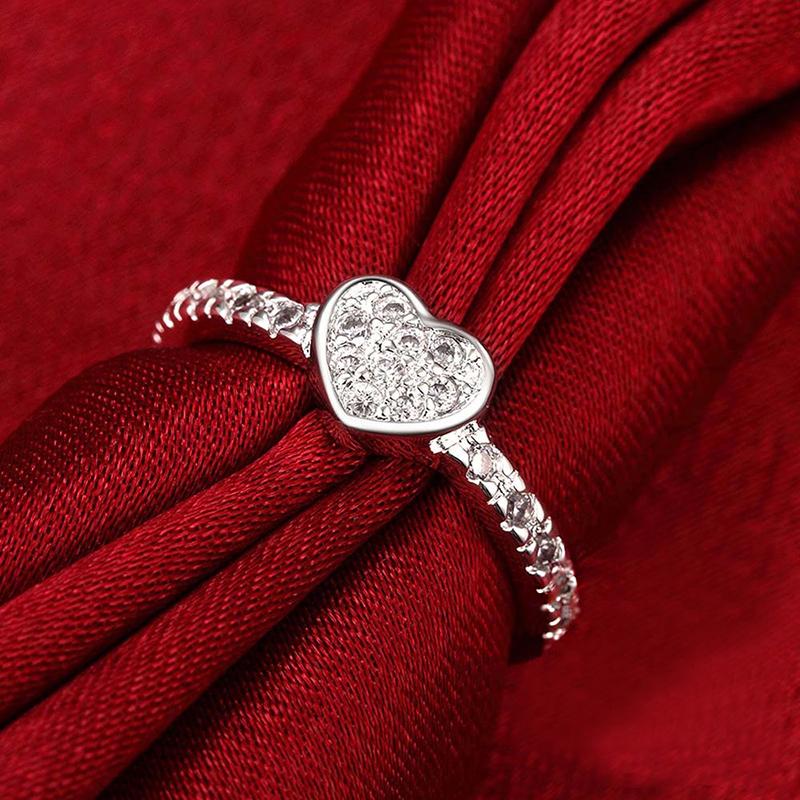 bague coeur bijoux mariage pour femme