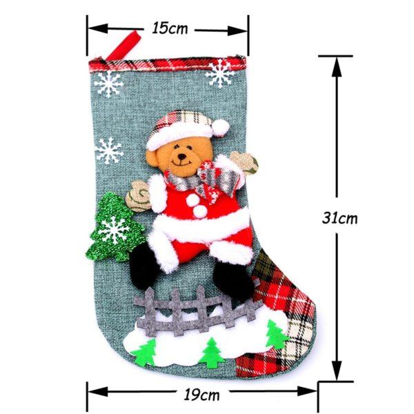 chaussette ourse de Noël mesure