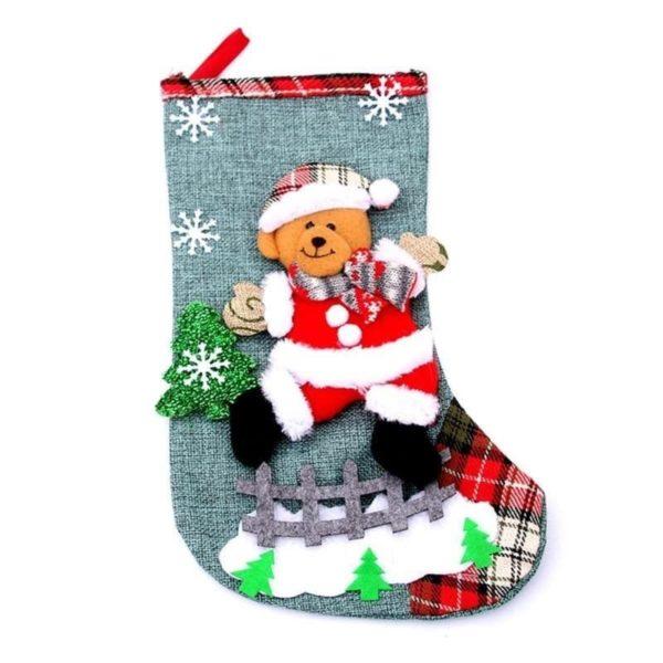 chaussette ourse de Noël