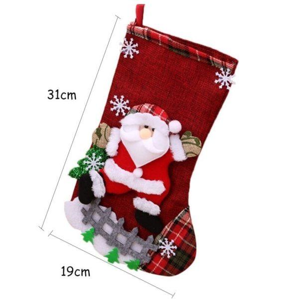 chaussette père Noël mesure