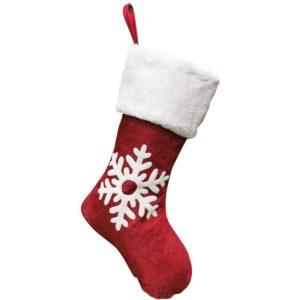 Chaussettes-de-noël-deux-tons-avec-flocon-de-neige