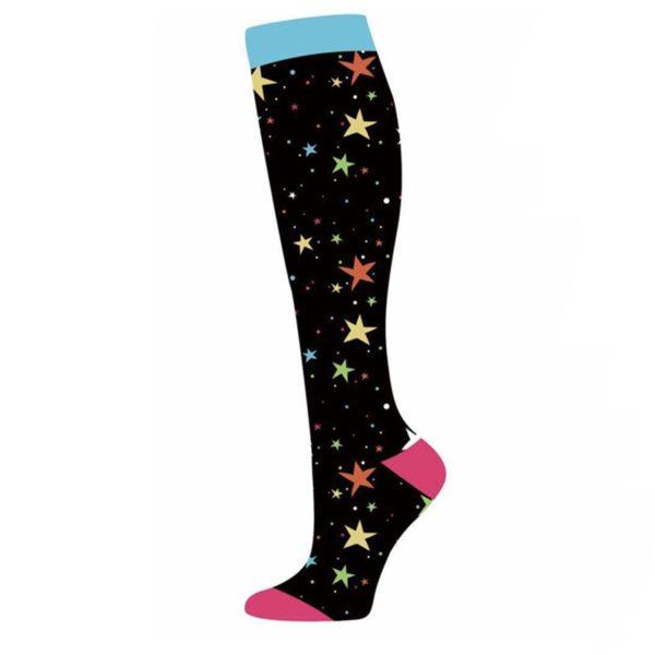 chaussettes-de-compression/chaussettes-de-compression-avec-des-etoiles-noire