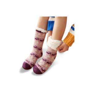 Chaussettes-de-noël-motif-renne-rouge
