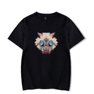 T-shirt Demon slayer Noir Inosuke