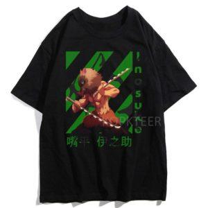T-shirt Demon Slayer Kimetsu No Yaiba Inosuke Sabre