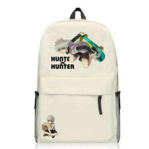 Sac à Dos Blanc Hunter X Hunter Kirua Fait du Skate